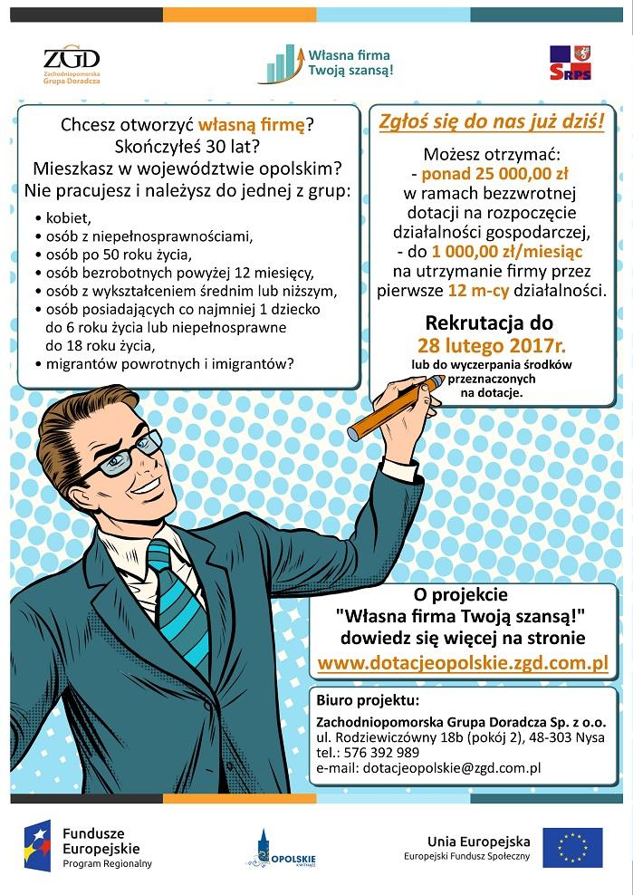 Plakat promujący program dofinansowania