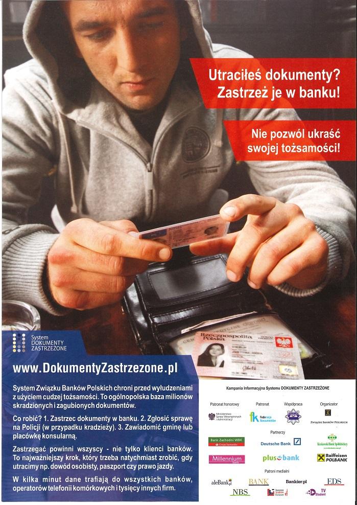 Plakat promujący projekt Dokumenty Zastrzeżona