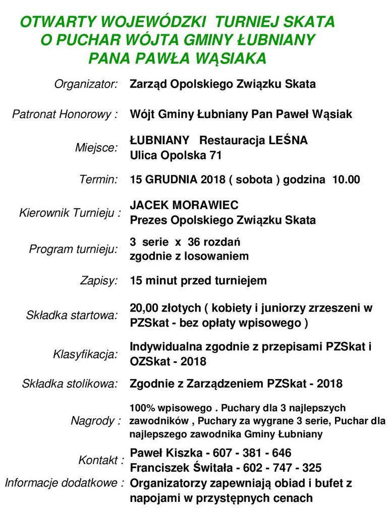 Otwarty Wojewódzki Turniej Skata