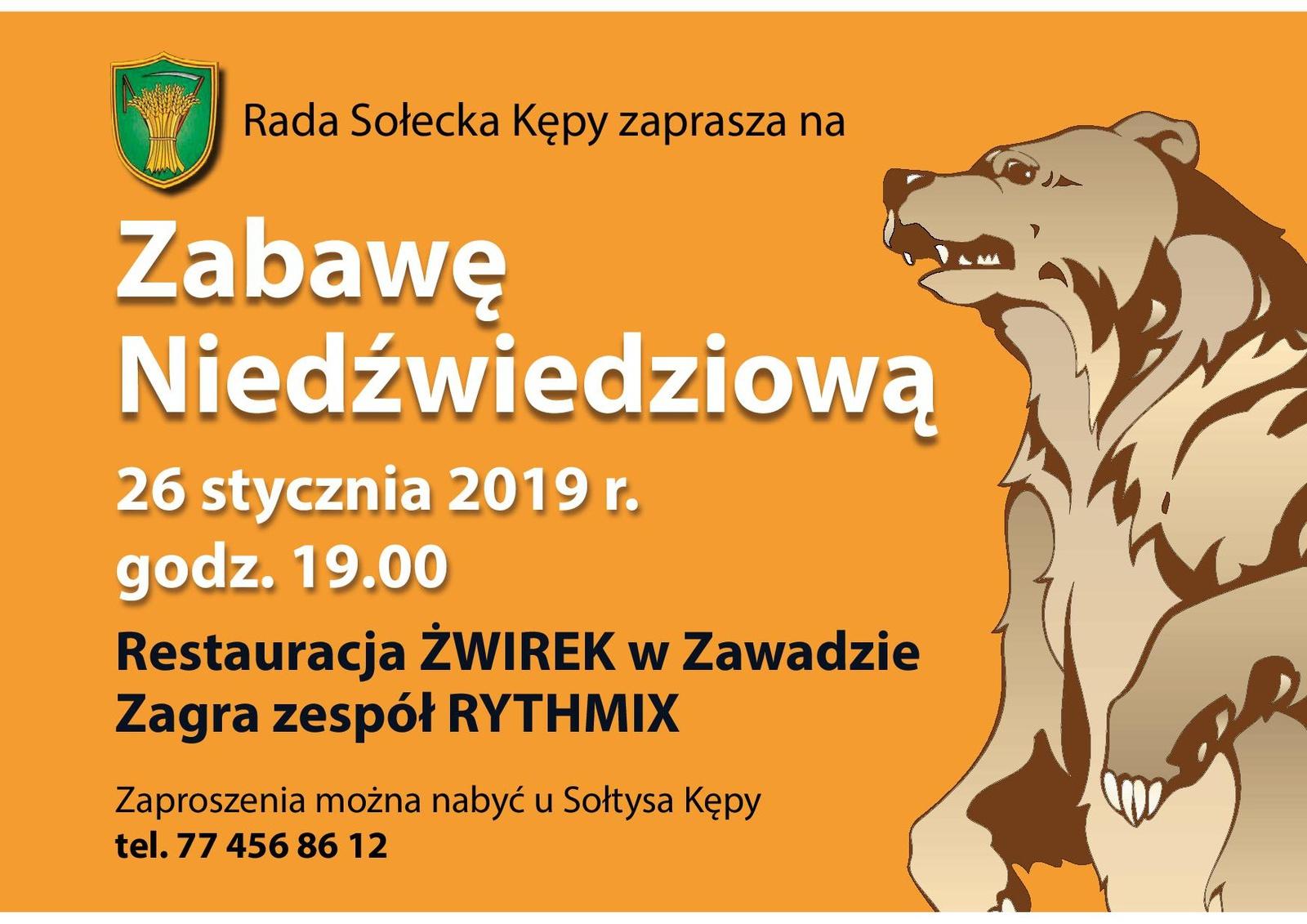 Plakat - zabawa niedźwiedziowa - Kępa