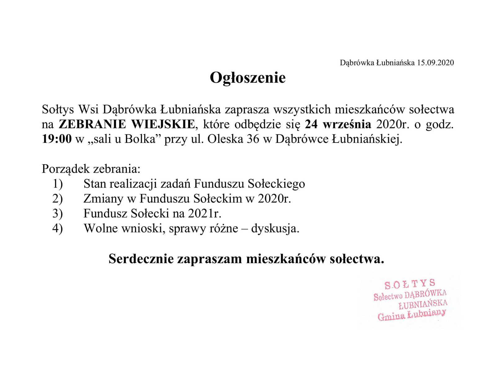 ogłoszenie Dąbrówka Łubniańska.jpeg