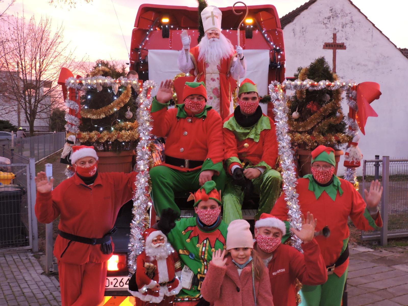 Orszak św. Mikołaja w Kępie
