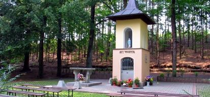 Leśna kapliczka Studzionka w Dąbrówce Łubniańskiej