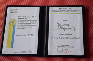Potwierdzenie nadania odznaki - legitymacja