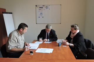 Galeria Odnowa centrum miejscowości Brynica - podpisanie umowy na dofinansowanie