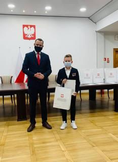 Maksymilian Romanowski z Marcinem Romanowskim, wiceministrem sprawiedliwości