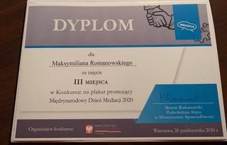 Dyplom Maksymiliana Romanowski