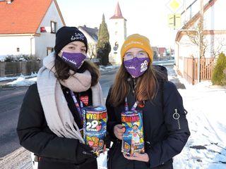 Wolontariuszki WOSP w Łubnianach