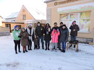 Uczestnicy WOSP w Dąbrówce Łubniańskiej
