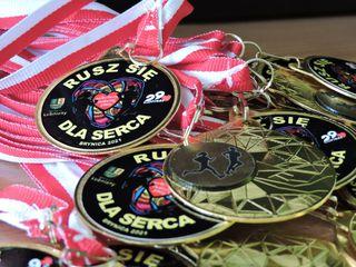 Medale biegu Rusz się dla serca