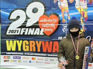Uczestnik biegu Rusz się dla serca w siedzibie sztabu