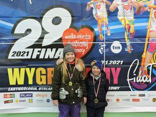 Dwoje dzieci - uczestnicy biegu Rusz się dla serca