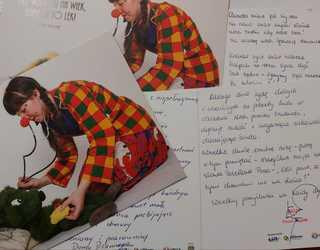 Kartki wypisane przez pracowników Urzędu Gminy Łubniany
